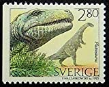Plateosaurus Dinosaurs -Handmade Framed Postage Stamp Art 0995AM