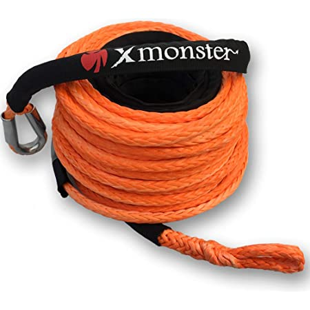 5//16/×30ft, Orange Winch Rope Extention,Synthetic Rope,Rope Extention for Off-road ATV UTV,Winch Cable