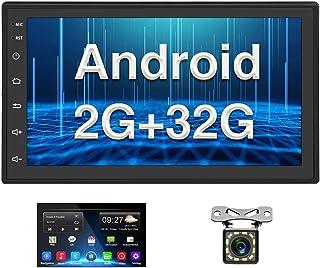 Android Coche Radio 2 DIN GPS CAMECHO 2G+32G 7 Pulgadas Pantalla táctil Completa Bluetooth WiFi Reproductor de Radio FM Du...