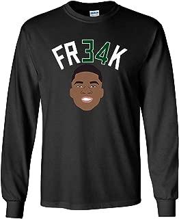 Long Sleeve Black Milwaukee Giannis Greek Freak t-Shirt