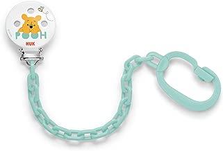 NUK 10256250 Baby Rose Saugerband Duo mit Clip zur sicheren Befestigung des Schnullers an Babys Kleidung
