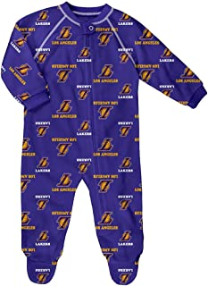 Los Angeles Lakers Infant Raglan Zip-Up Coverall