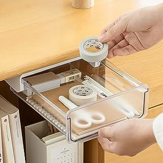 Pen Holder Under Desk Organisers,Desktop Storage, Suitable for office/ bedroom/ school/ kicchen (white)