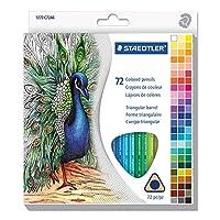 Staedtler 1270C72A6 2.9 mm Hardness No.3 Triangular Barrel Colored Pencil Set - 72 Assorted Colors