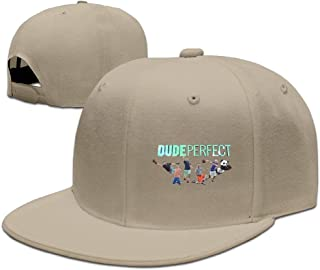 Beetful Dude Perfect DP Logo Adjustable Snapback Hip-hop Baseball Cap Natural