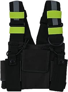 Saigain Radio Rig Chest Harness Bag Holster Holder Work Vest Rig Universal Hands Free for Two Way Radio Walkie Talkie(Rescue Essentials)