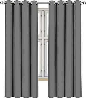Utopia Bedding [Lot de 2 Rideaux Occultants - 8 Oeillets par Panneau – 117 x 183cm avec Oeillets - Rideaux/Panneaux/Rideau...