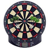 MCTECH® Profi Elektronische Dartscheibe Dartboard Dartona Soft-Dartpfeile Steeldart 6 Dartfeile +...