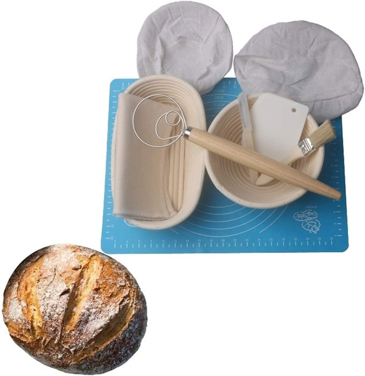 YWSZY Bread Proofing Baskets Rat Country Fermentation Cheap sale 8Pcs Tampa Mall