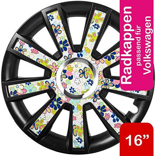 Saferide | Universal Tapacubos Bicolor Carbon Look–Rosa Juego 4Tapacubos Stk. Clásico Llantas Aspecto–Tapacubos Tapacubos felgenabdeckung Llanta Tapas radabdeckungen