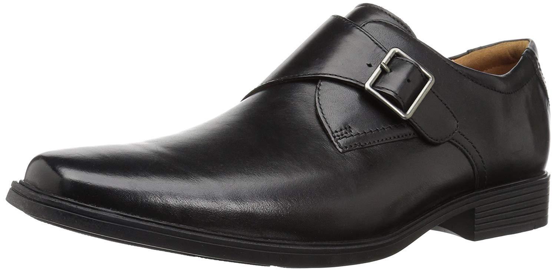 Clarks Tilden Monk Strap Loafer Leather
