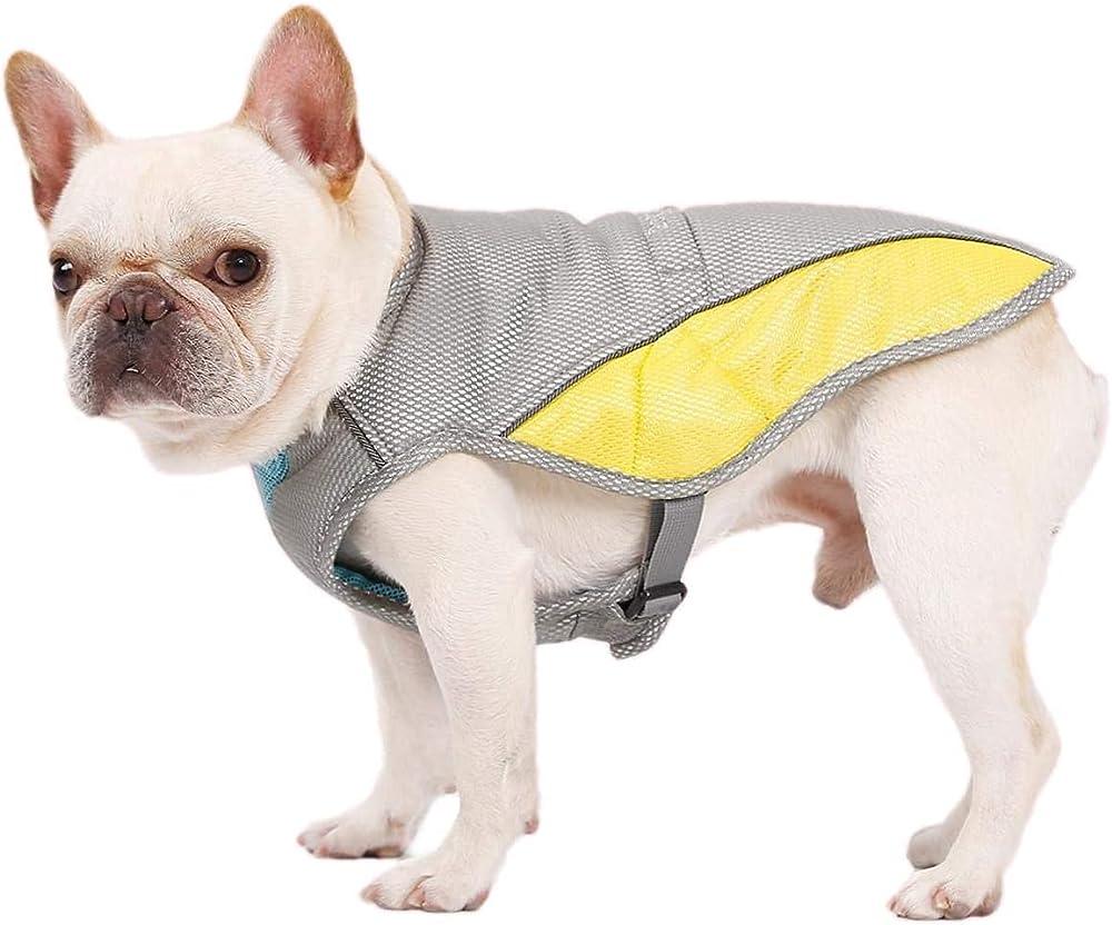 Bepetmia, gilet traspirante, refrigerante per cani, con tessuto di raffreddamento a 3 strati, taglia L