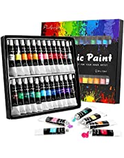 Acrylic Paint set, 24x12ml Tubes Artist Quality oil Acrylic paints water color Non Toxic vibrant colors, Oil paint suitable for beginners & professionals painting on Canvas, wood, clay, fabric