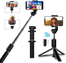 Selfie Stick Bluetooth, AYY Extendable Selfie Stick Tripod with Wireless Remote Selfie Stick for iPhone 11 Pro Max/11 Pro/11/XS/XS Max/XR/X/8/8 Plus/7/6s/6, Galaxy S20/S10/S9/S8/S7/S6/Note, More