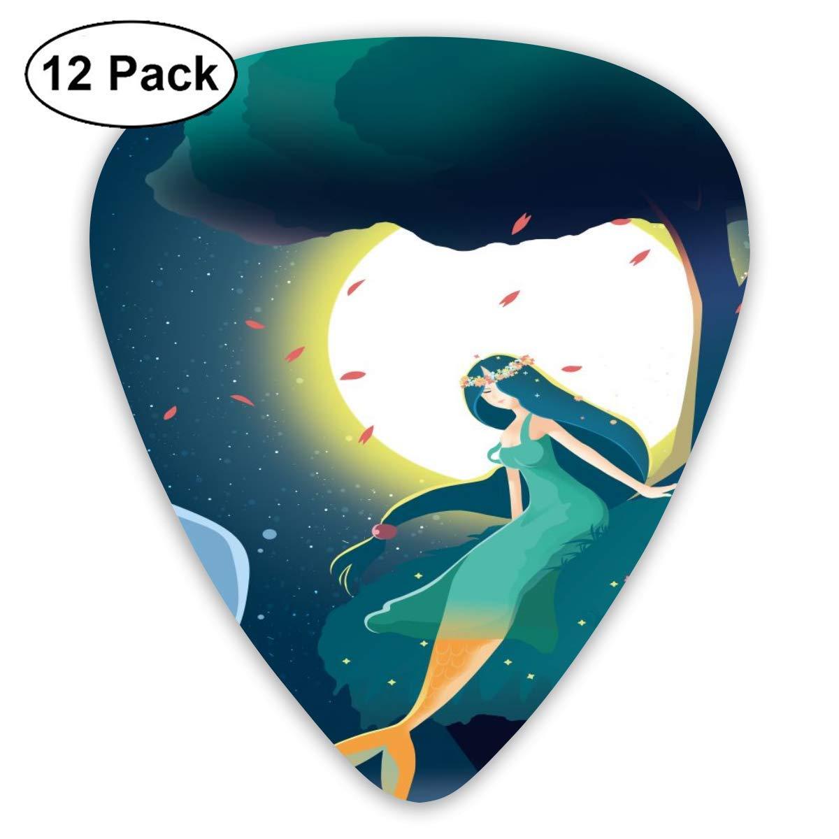 Luna noche belleza sirena 351 Forma de guitarra de celuloide ...
