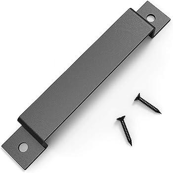 Tirador y tirador de puerta engastado para puertas corredizas de granero Garajes Cobertizos: Amazon.es: Bricolaje y herramientas