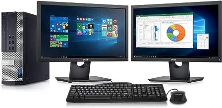 Dell Optiplex 7010 Desktop Computer - Intel Core i7 3.8GHz, 16GB DDR3, New 1TB SSD, Windows 10 Pro 64-Bit, WiFi + 2X New 24