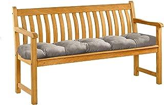 Garden Furniture Cushions Bench Mat Pad Seat Chair Home Swing Decor Pillow Indoor Outdoor Comfortable Floor,Light Grey,1 x 0.5m,Australia