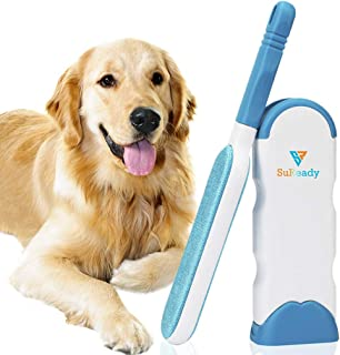 SuReady Pet Hair Remover Brush, Pet Hair Remover with Self-Cleaning Base, Double Sided Pet Hair Remover Brush Remove Dog, Cat Hair from Furniture, Car, Bed and more