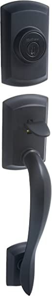 Kwikset 800AVH Lip 514 SMT Avalon Single Cylinder Handleset Exterior Only Iron Black