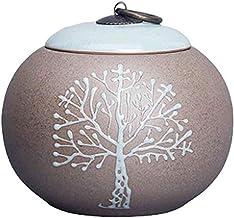 Yuecoofei Handmade Ceramic Urn for Funeral Urn,Memorial Cremation Ash Funeral Burial Urn Keepsake, Forever Memory Box Memo...