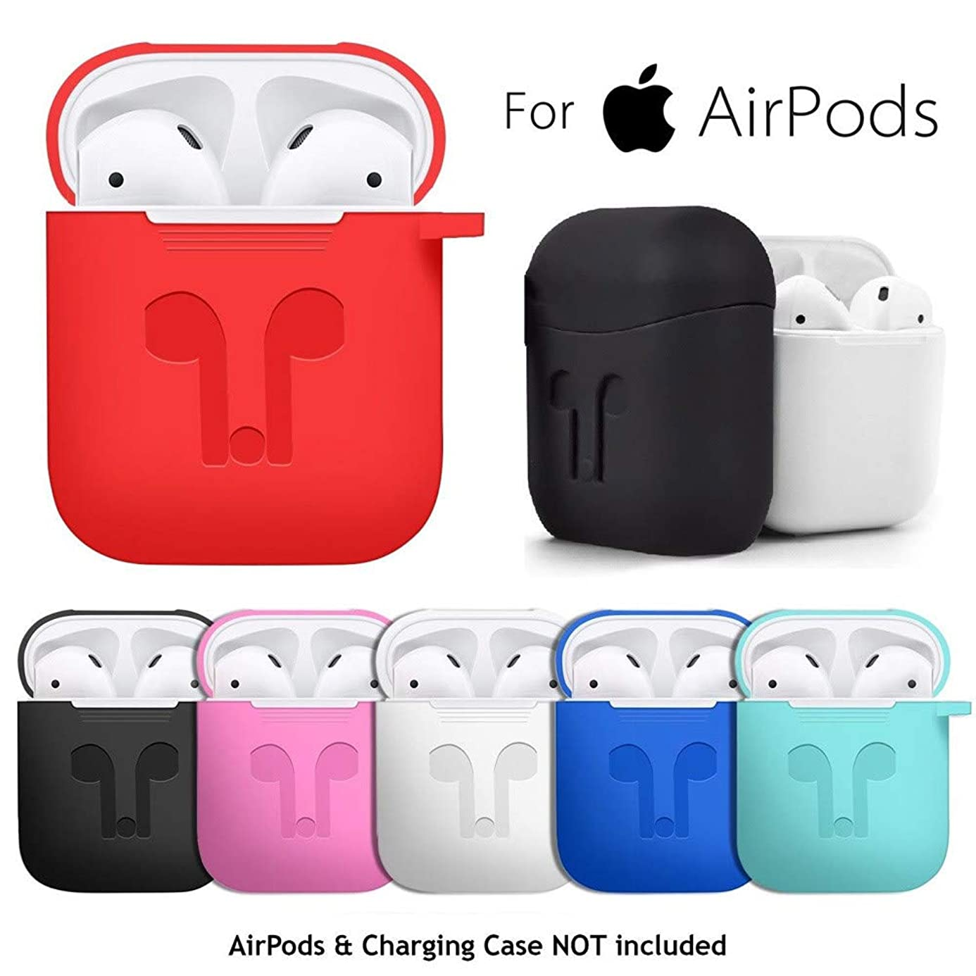 WensLTD for AirPods Silicone Case Cover Protective Skin for Apple Airpod Charging Case