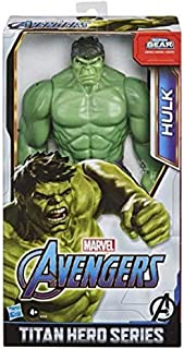 Marvel Avengers Titan Hero Series Blast Gear Deluxe Hulk Action Figure, 12-Inch Toy, Inspired By Marvel Comics, For Kids A...