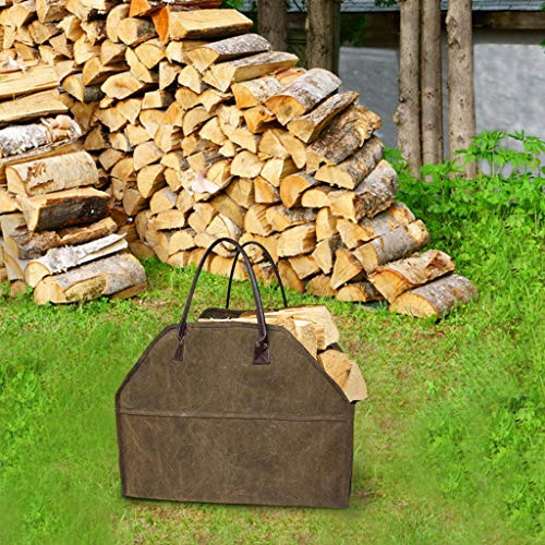 Heavy Duty Canvas Log Carrier Tote Fire Wood Bag Firewood Holder Large