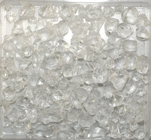 Eurosand Deko Glassteine Natur 1 Kg Größe ca. 4mm - 10mm - Tischdekoration Streudeko Deko Vasen - Dekomaterial Dekosteine'