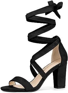Best lace up heels black suede Reviews