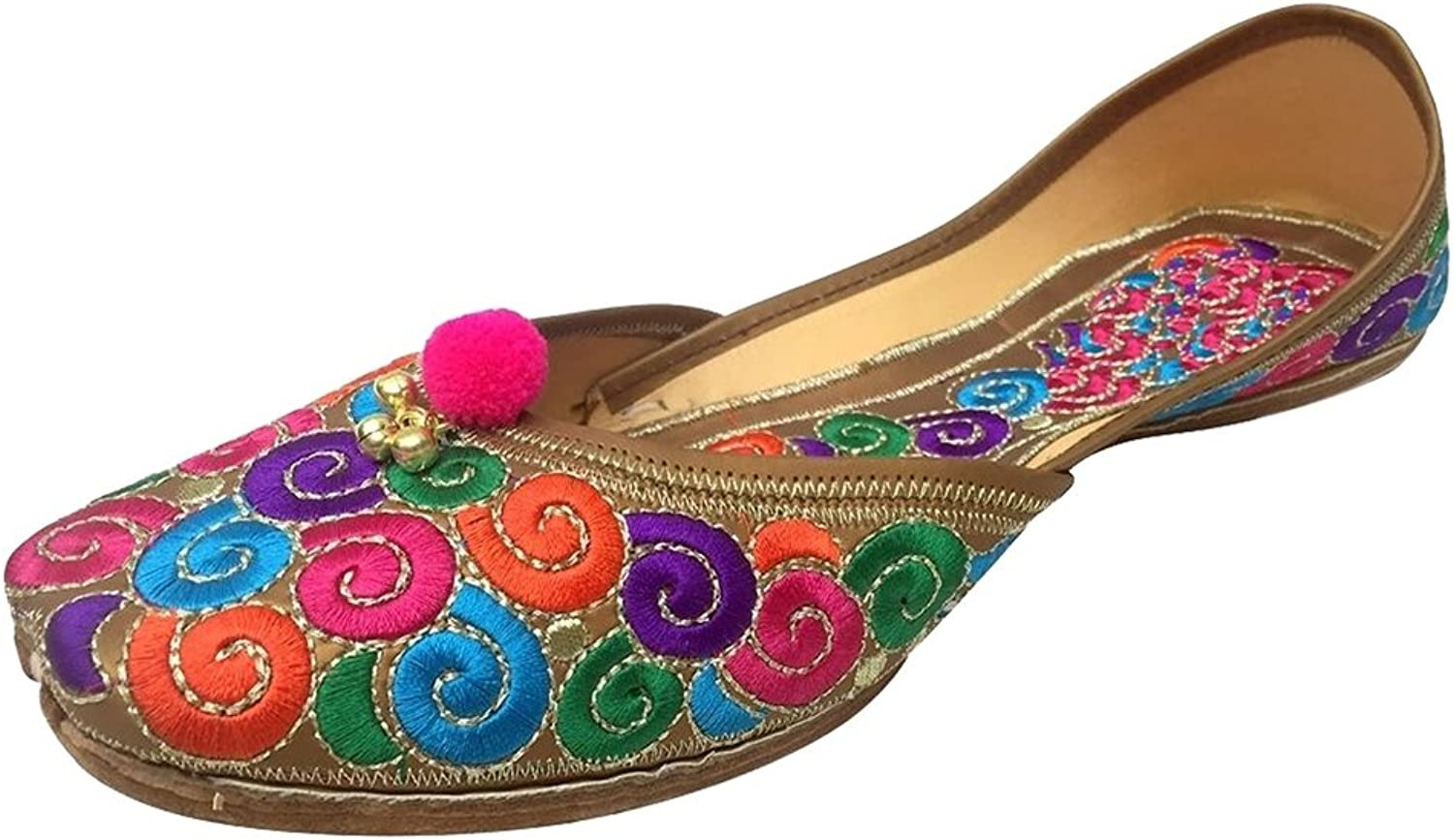 Step n Style Women's Leather Thread Work Jutti shoes