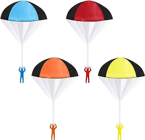 MengH-SHOP Parachute Jouet Main Lancer Parachutes Jouet Set Jeux de Plein Air Mini Jouet de Loisirs Volant pour Enfan...