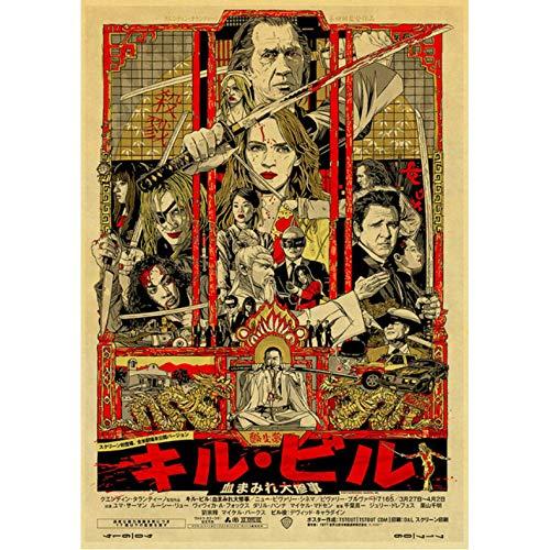 Quentin Tarantino Movie Kill Bill/Reservoir Dogs/Bastardi Senza Gloria Retro Poster Pittura per La Casa/Camera dei Bambini/Bar Decor 50 × 70 Cm Senza Cornice