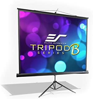 Elite Screens Tripod B, 50-INCH 1:1, Lightweight Pull Up Foldable Stand, Manual, Movie Home Theater Projector Screen, 4K / 8K Ultra HDR 3D Ready, 2-Year Warranty, T50SB