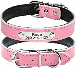 collier pour chien cuir rose