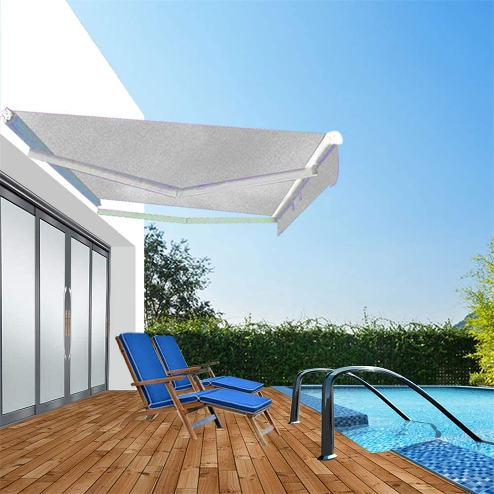 Today's only SASKATE Limited price Patio Awnings Sun Shade Courtyard Canopy Garden Awning