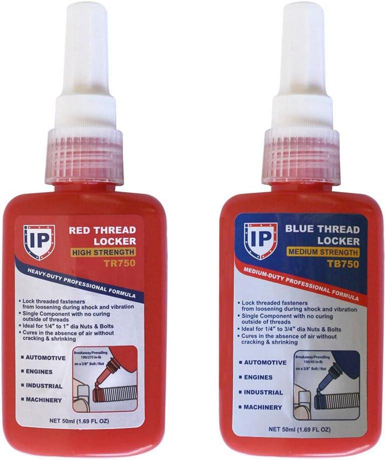 Interstate Pneumatics TRB750K 2 in 1 Thread Locker Kit Includes