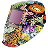 Antra Welding Helmet Auto Darkening DP9-04, Optical Class 1/1/1/1, Large Size 12.5SQI, Shade range 3/5-9/9-14 for TIG, MIG/MAG, MMA, Plasma, Grinding, Solar-Lithium Dual Power, 6+1 Extra lens covers