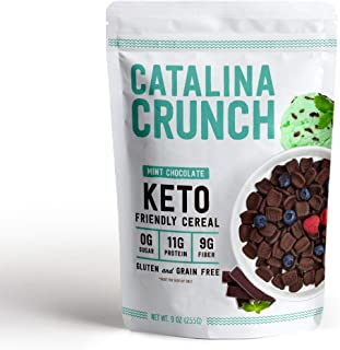 Catalina Crunch Mint Chocolate Chip Keto Cereal: Keto Friendly, Low Carb, Zero Sugar, Plant Protein, High Fiber, Gluten & ...