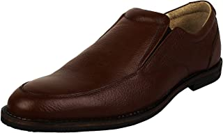 SeeandWear Brown Slip On Formal Shoes for Men Genuine Leather Pointed Lace Up Shoe