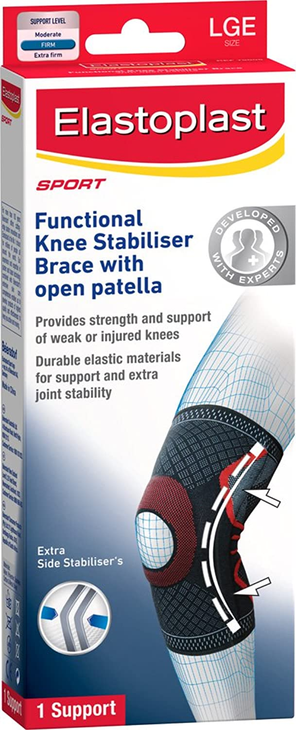 Elastoplast Sport  Knee Stabiliser Brace with Open Patella  L