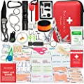 Aootek Upgraded first aid survival Kit.Emergency Kit earthquake survival kit Trauma Bag for Car Home Work Office Boat Camping Hiking Travel or Adventures by Aootek