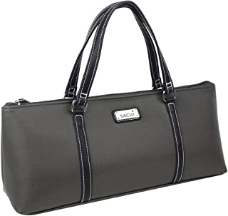 Sachi Insulated Wine Purse Cooler Tote Bag - Charcoal