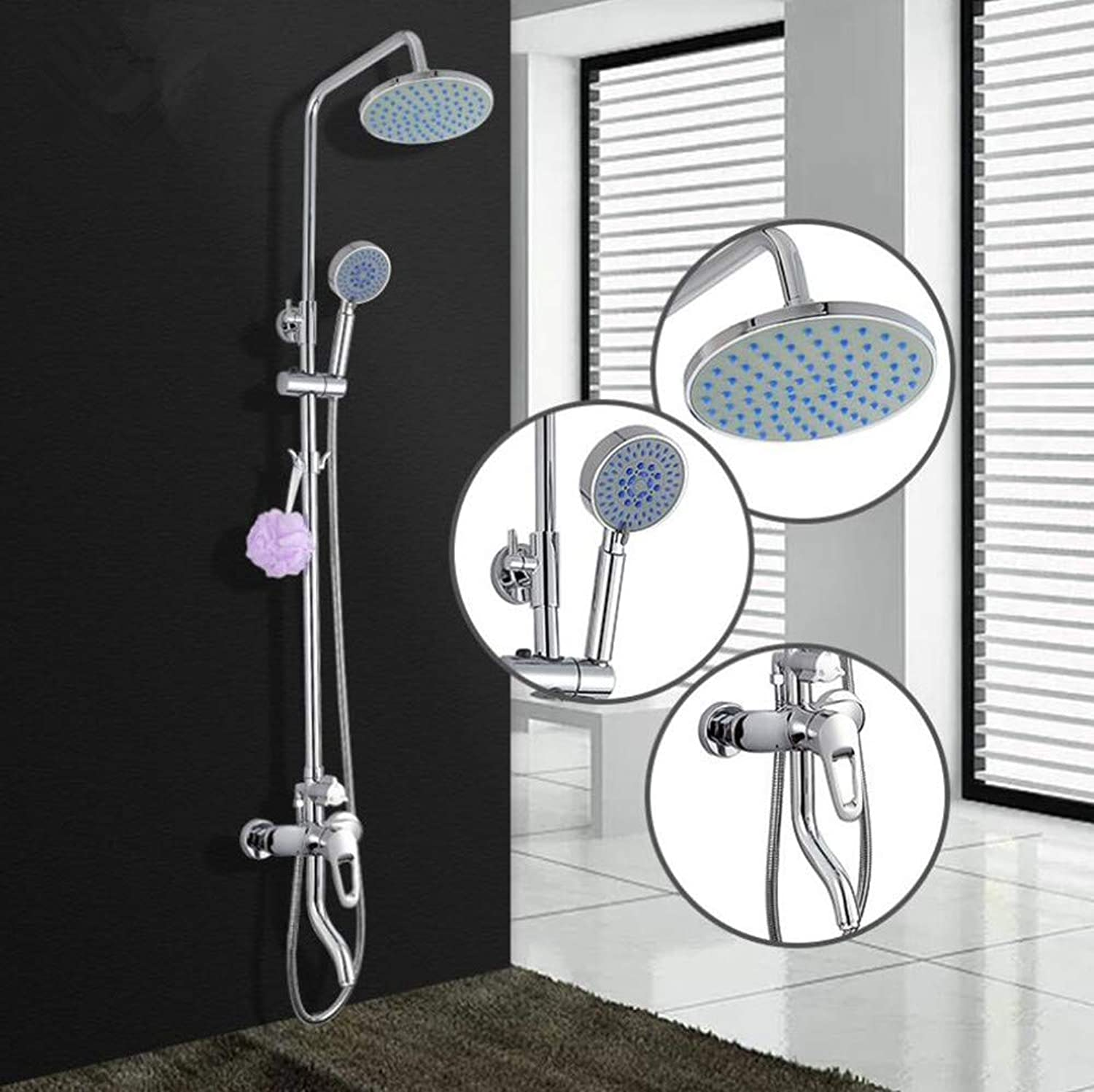 Bathroom Copper Shower Set Three-speed Shower Set Hotel Bathroom Hot And Cold Mixed Shower