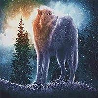 大人のためのジグソーパズル3000ピース、オオカミと森教育用知的減圧おもちゃパズル家族向けゲーム家族や友人へのギフト-48.03x31.88インチ(122 x 81cm)