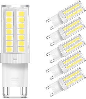 KingSo G9 LED Bulb 5W (40W Halogen Bulb Equivalent) 400 Lumens G9 Bi-pin Base LED Light Bulb Daylight White 6000K AC 110V 360° Beam Angle Non-dimmable for Home Lighting Chandelier (Pack of 5)