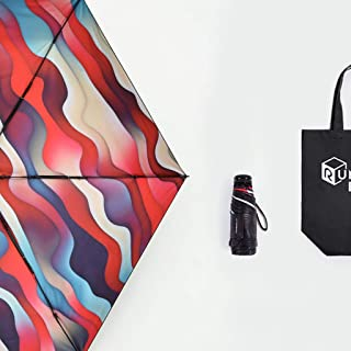 Ultra-Light Portable Folding Umbrella Rain and Rain Dual-use Rain Mini Sun Umbrella Anti-mite UV Blue, Red Optional HYBKY (Color : Red)