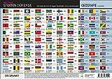 Staaten der Erde: 196 Staaten der Erde mit Flaggen, Hauptstädten und Länderkennzeichen