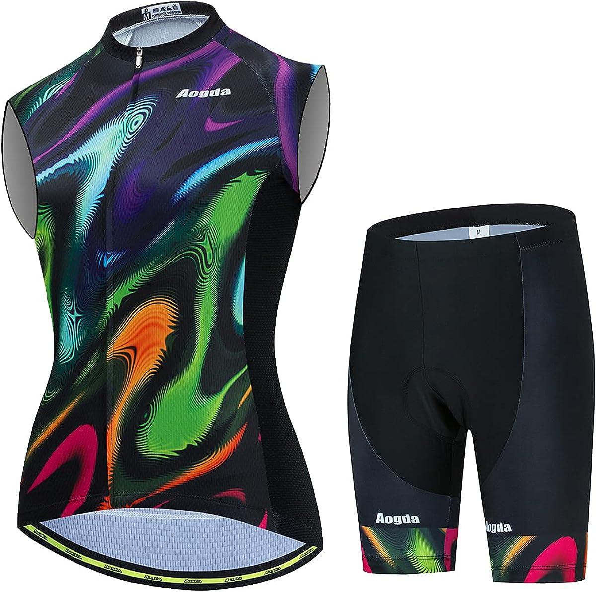 Aogda おトク Cycling Jerseys Team Bike Vest 新作販売 Biking Shirts Sleevel Women