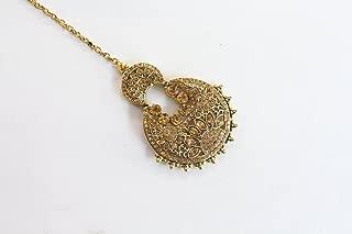 Crystal Wedding Tikka/Bollywood Headpiece Tikka/Gold Tikka Jewelry Online/Bridal Tika/Indian Jewelry/Maang Tikka